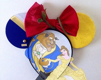 Beauty and the Beast Belle inspired ears headband