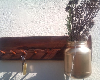 Handmade rustic key holder