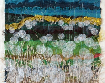 Dandelion Field - Textile Art Embroidery Kit designed by Angie Attwood