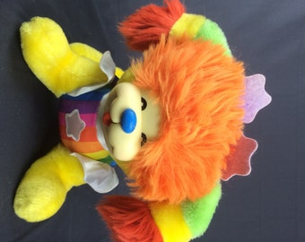 "1983 Rainbow Brite Puppy Plush stuffed Animal Doll 9"" by 12"""