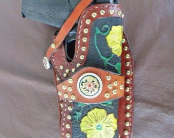 Handmade Leather Western Holster 1911 Colt 4 1/4 inch barrel
