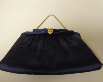 Classy Vintage Navy Blue Purse