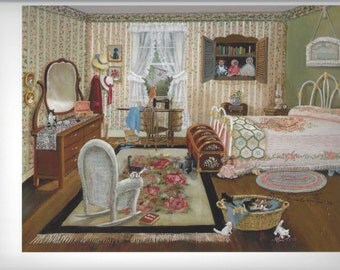 Victorian Bedroom Country Kittens