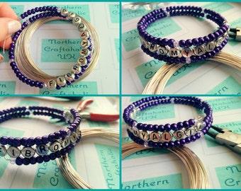 FIBROMYALGIA AWARENESS Bracelet made with Memory Wire