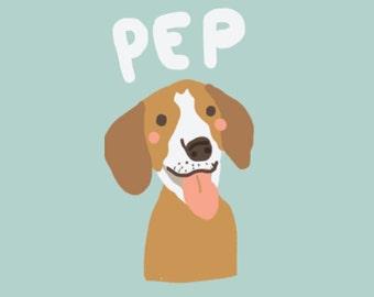 Custom pet portrait, Dog portrait, Personalized dog portrait, Pet portrait, Pet illustration, custom illustration, gift ideas