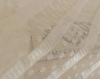 "White elastic  tulle fabric - 59"" (150cm) wide - sold per metre"