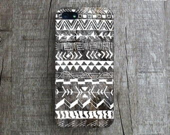 AZTEC TRIBAL PATTERN iPhone 7 Case. Hand Illustration iPhone 5C Case. Hand Illustrated Pattern iPhone 6 Case. Tribal iPhone 5s Case. Gift.