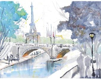 Paris and the Seine