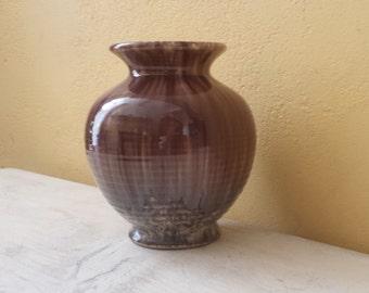 W. German pottery vase, Bay Keramik 511 14 , 60s/70s, hazel brown glazing