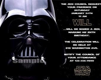 Star Wars Invitation, Star Wars Birthday Invitation, Star Wars Thank You