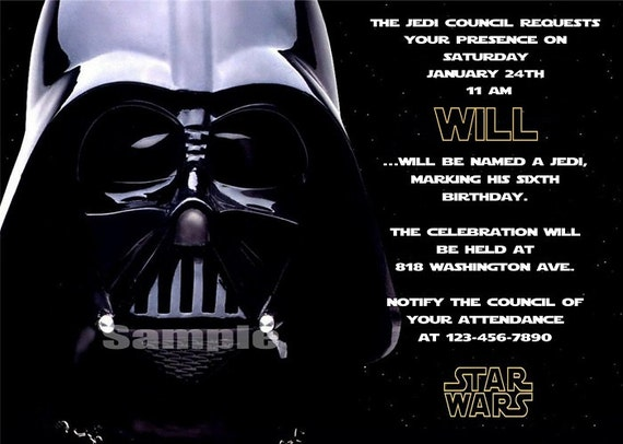 Personalized Star Wars Invitations was best invitations ideas
