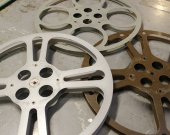 Vintage 16mm Movie Reels (Set of 3)
