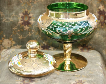 Candy dish; lidded candy dish