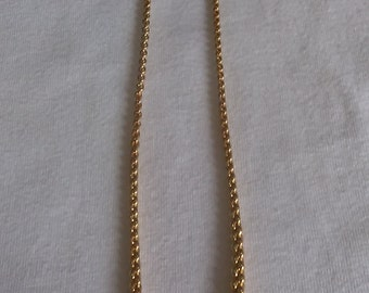Gold-tone Linked Chain Necklace
