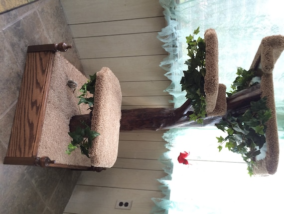 Items Similar To Real Wooden Cat Tree Furniture On Etsy