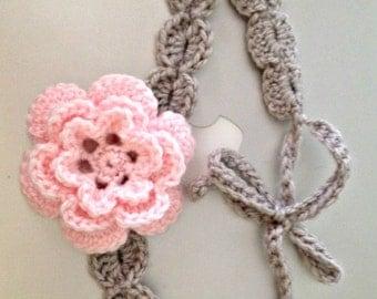 Flower Shell Crochet Headband
