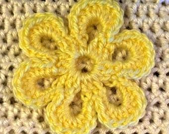 Open Petal Crochet Flower