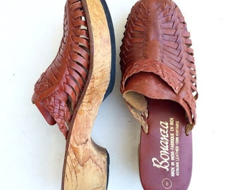 Vintage 70's Wooden Clogs