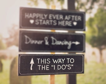Chalkboard Wedding Sign | This Way To The I Do's Wedding Sign | Wedding Sign
