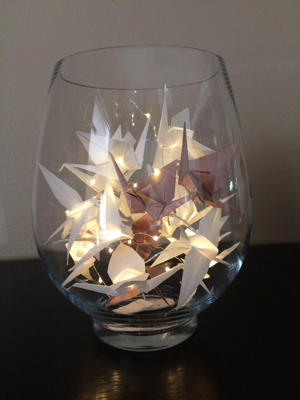 Origami crane fairy lights 20 led 39 s 10 cranes - Led a pile pour deco ...