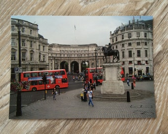 Red London Bus Postcard