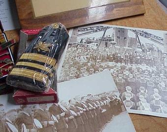 Lot 10 world war II navy photos Dr. John L Faul dentist ribbon medals plaque & photograph #391