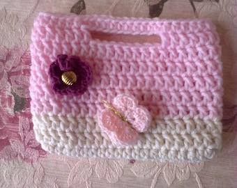 Girls crochet purse