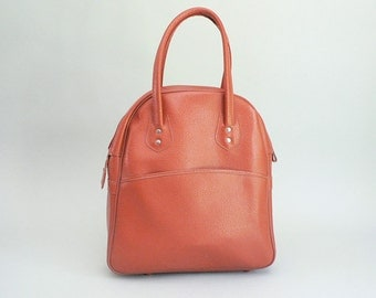 60s Orange/ Coral Vinyl Tote Bag