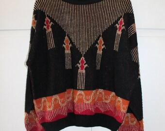 Vintage 1980s Sparkly Jumper | Size 10 12 14
