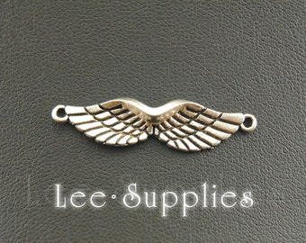 10pcs Antique Silver Alloy Angel Wings Charm Charms Pendant A992
