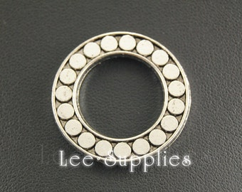 10pcs Antique Silver Alloy Ring Circle Connector Charms Pendant A273