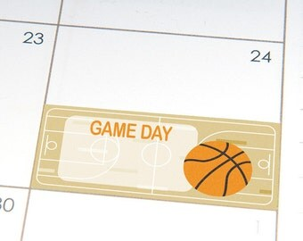 PRINTABLE Basketball Game Day planner stickers