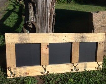 Rustic Farm Coat Hanger with Chalkboard