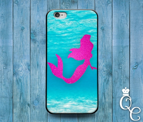 iPhone 4 4s 5 5s 5c SE 6 6s 7 Plus + iPod Touch 4th 5th 6th Gen Water Adorable Phone Case Cute Mermaid Silhouette Cover Cool Pink Ocean Blue
