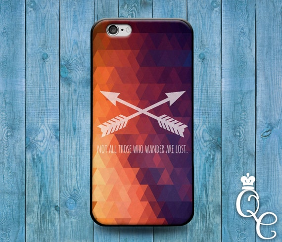 iPhone 4 4s 5 5s 5c SE 6 6s 7 plus iPod Touch 4th 5th 6th Gen Not All Who Wander Are Lost Cute Quote Phone Case Custom Artsy Artistic Cover