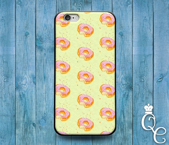 iPhone 4 4s 5 5s 5c SE 6 6s 7 Plus iPod Touch 4th 5th 6th Generation Cute Pink Doughnut Donut Food Phone Funky Cover Funny Cool Custom Case