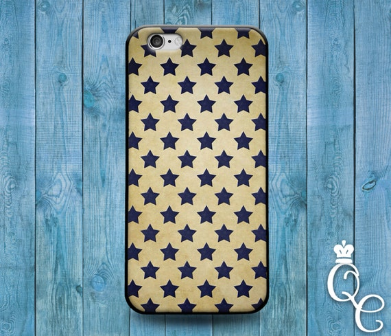iPhone 4 4s 5 5s 5c SE 6 6s 7 plus iPod Touch 4th 5th 6th Generation Blue Star Pattern Design Modern Cool Artistic Phone Cover Cute Fun Case