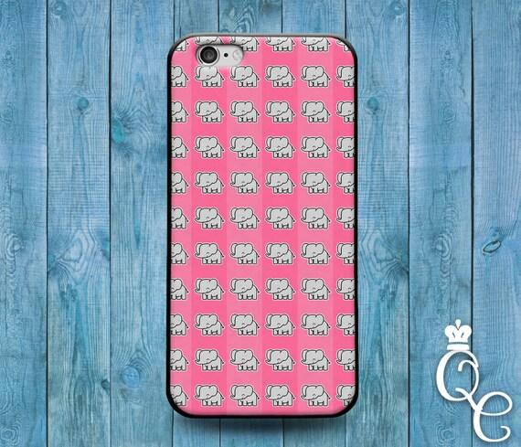 iPhone 4 4s 5 5s 5c SE 6 6s 7 plus iPod Touch 4th 5th 6th Gen Cover Cute Pink Elephant Pattern Custom Funny Case Fun Cool Pretty Girly Girl