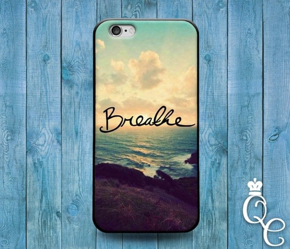 iPhone 4 4s 5 5s 5c SE 6 6s 7 plus + iPod Touch 4th 5th 6th Gen Cute Quote Phone Case Breathe Ocean Custom Girly Girl Fun Sunset Beautiful