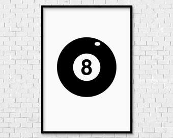 Lucky Eight Ball Etsy