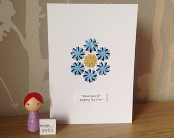 Foster carer thank you card