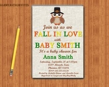 Fall Baby Shower Invitation, Fall Leaves, Fall Colors, Digital File, Autumn, Autumn Shower, Thanksgiving Baby, Rustic Baby Shower, Printable