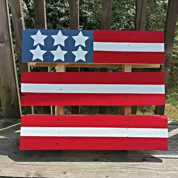 Hand painted American flag pallet home decor by DeReDesigns