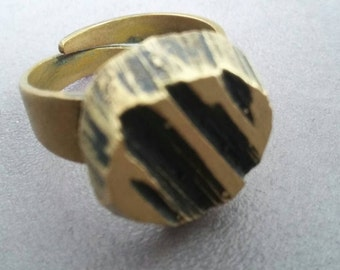 Finnish Bronze Ring designed by Karl Laine 70's