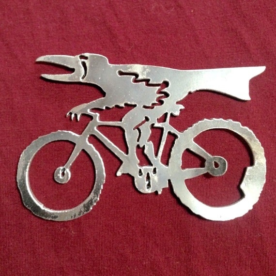 raven on bicycle bottle opener by livesteel on etsy. Black Bedroom Furniture Sets. Home Design Ideas