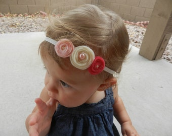 Felt Rosette Headbands