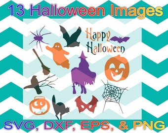 13 Svg, Dxf, Eps Png Halloween files