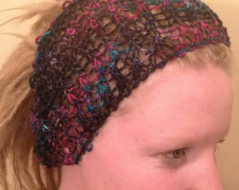 Dreadlock Headband, Dreadlock Accessories, Knit Headband, Alpaca Wool Blend