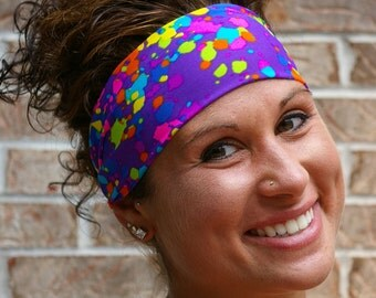 Purple Splatter Headband -- StayBand™
