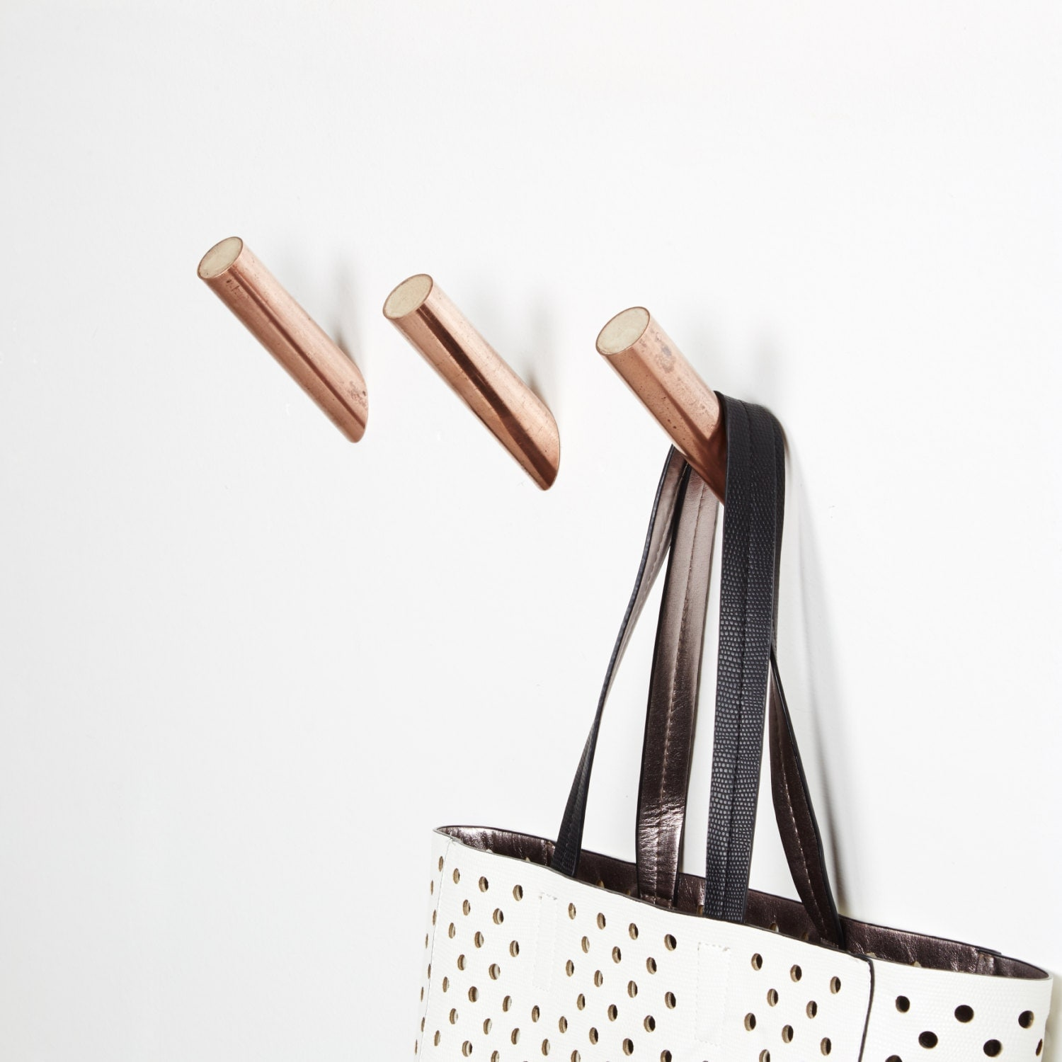 Handmade Copper And Concrete Hooks Hangers By Madeandprinted